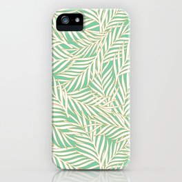 Palm Leaves - Aquamarine iPhone Case
