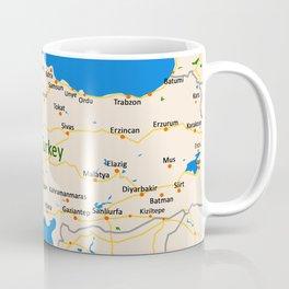 Turkey Map Design Coffee Mug