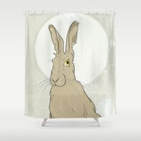 hare Shower Curtains featuring Hare by Stu Jones