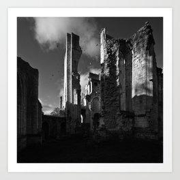 Ruins Jumièges Art Print
