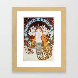 Alphonse Mucha Sarah Bernhardt Vintage Art Nouveau Framed Art Print