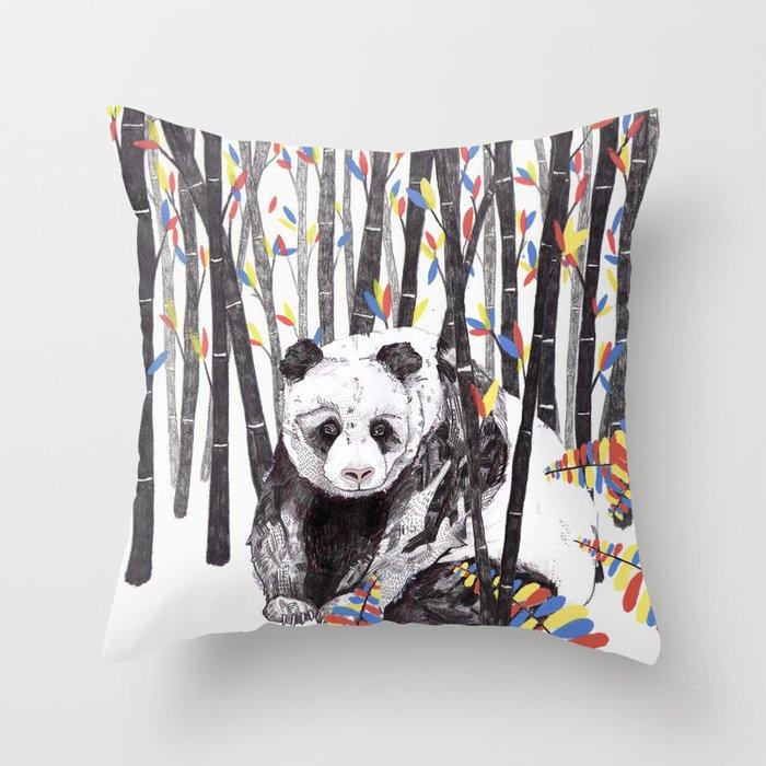 Panda Bear // Endangered Animals Throw Pillow by sandradieckmann Society6