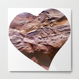 Heart Shape Stone Art Metal Print
