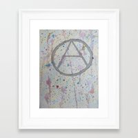 anarchy Framed Art Prints featuring Anarchy! by veganlove