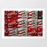 coke Art Prints featuring Coke by Elizabeth Nowicki