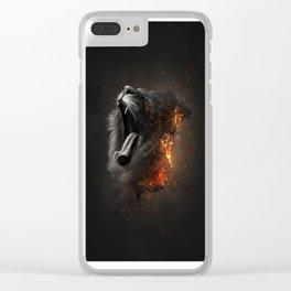 XTINCT x Lion Clear iPhone Case