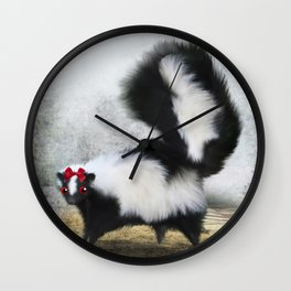 Ms. Skunk on her Own Wall Clock