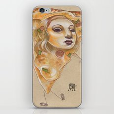 PIZZA LADY iPhone & iPod Skin