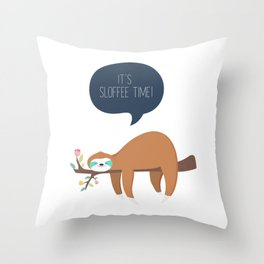 It's Sloffee Time! Throw Pillow