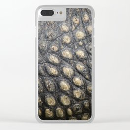 Textura: Alligator Skin Clear iPhone Case