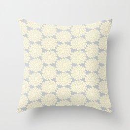 White cotton flower Throw Pillow