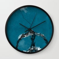 sewing Wall Clocks featuring sewing birds by frederic levy-hadida