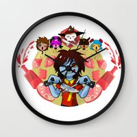 cooking Wall Clocks featuring Cooking Che by marvelousghost