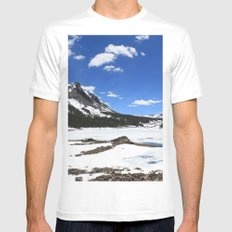 Tioga Lake MEDIUM White Mens Fitted Tee