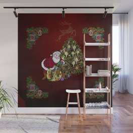 Christmas, Santa Claus Wall Mural