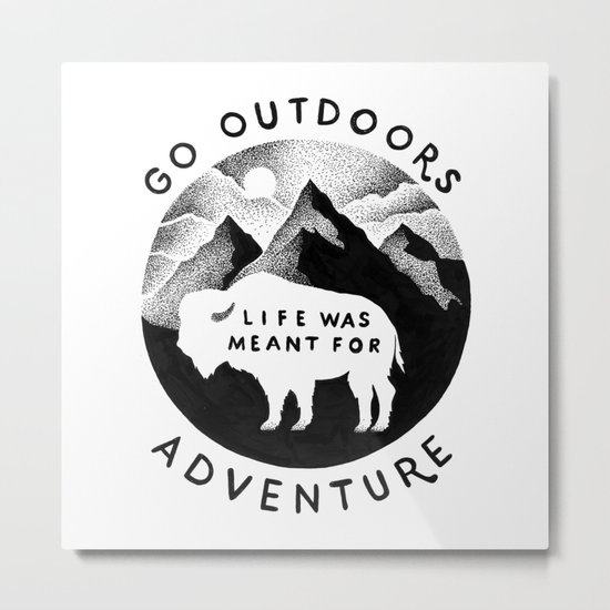 OUTDOORS Metal Print