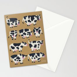 Cow Collection - Kraft Stationery Cards