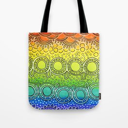 Rainbow Doodle Tote Bag