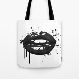 Black and white glamour fashion lips Tote Bag