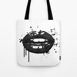 Black and white glamour fashion lips Tote Bag