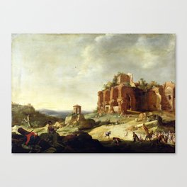 Bartholomeus Breenbergh The Stoning of St. Stephen Canvas Print