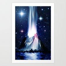 Eruption. Art Print