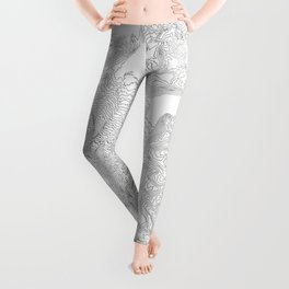 Mount Rainier, WA Contour Map In White Leggings