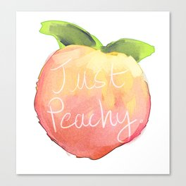 just peachy Canvas Print