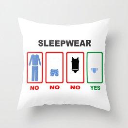 Sleepwear (diaper) Throw Pillow