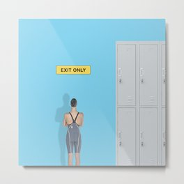 exit only Metal Print