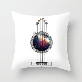 Space guitar. Throw Pillow