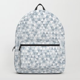 shades of ice gray triangles pattern Backpack