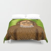 yeti Duvet Covers featuring Yeti by Designs By Misty Blue (Misty Lemons)