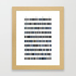 Bach Invention (Shades of Grey) Framed Art Print