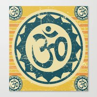 om Canvas Prints featuring om by crows nest