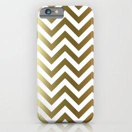 Gold Foil Chevron Pattern iPhone Case