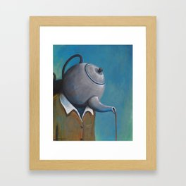 Constant Dribble (tea pot) Framed Art Print