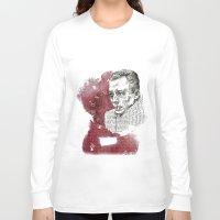 camus Long Sleeve T-shirts featuring Camus - The Stranger by Nina Palumbo Illustration