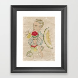 melon, watermelon and lemon Framed Art Print