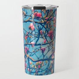 Spectacular Pink Grace: Oriental Magnolia Travel Mug