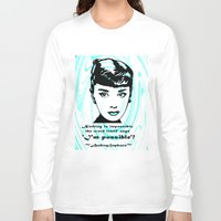 audrey Long Sleeve T-shirts featuring Audrey by SwanniePhotoArt