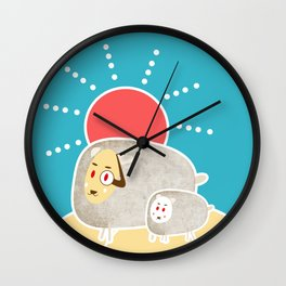 Dad, Let's go out for a walk! Wall Clock