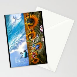 Tropical Scene Stationery Cards