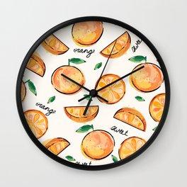Sweet Orange (Black Font) Wall Clock