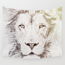 The Intellectual Lion Wall Tapestry