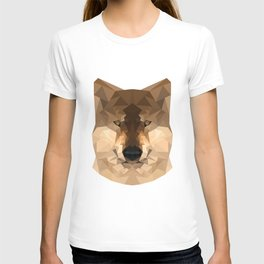 Wolf | Natural polygon wolf T-shirt