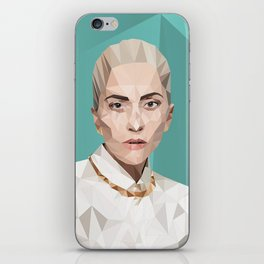 Low Polly Portrait iPhone Skin