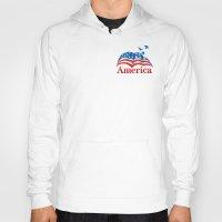 america Hoodies featuring America by corsetti