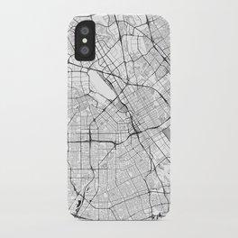 San Jose Map Gray iPhone Case