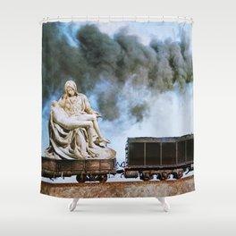 Pietà Train Shower Curtain